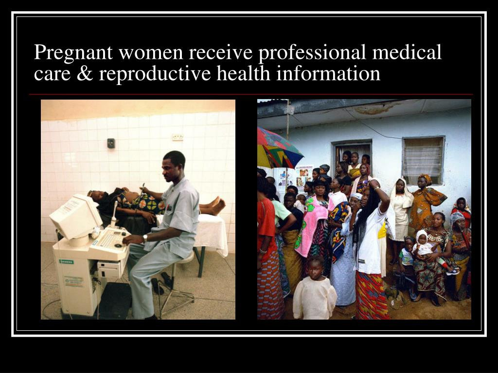 Pregnant women receive professional medical care & reproductive health information