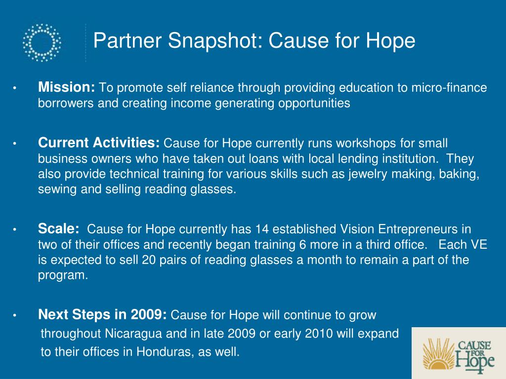 Partner Snapshot: Cause for Hope