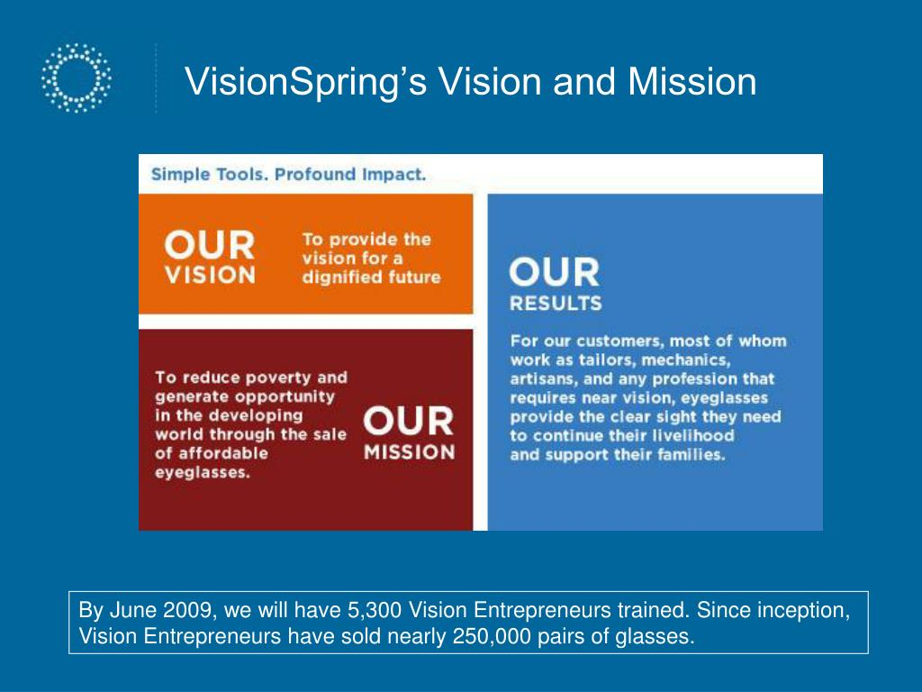 VisionSpring's Vision and Mission