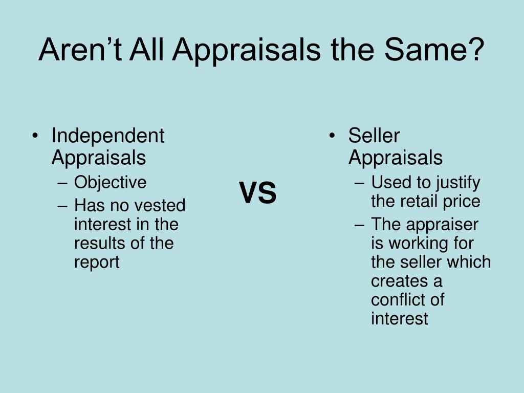 Independent Appraisals