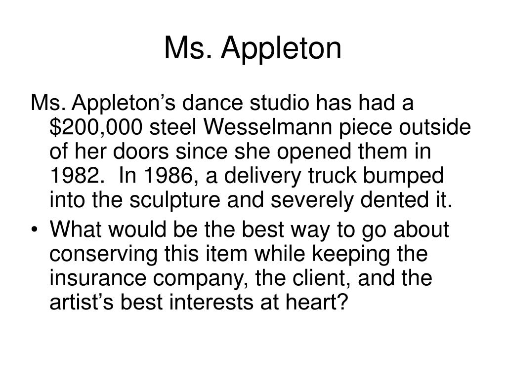 Ms. Appleton