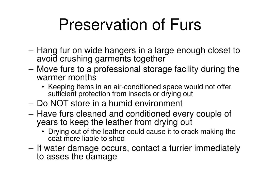 Preservation of Furs