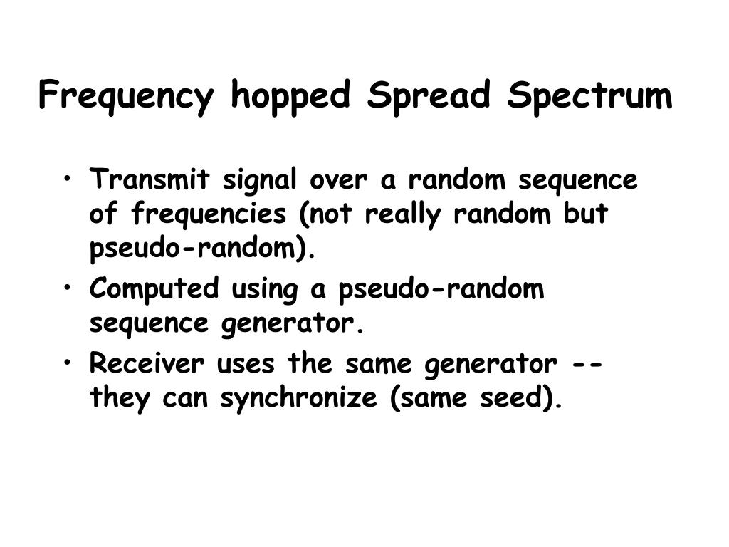 Frequency hopped Spread Spectrum