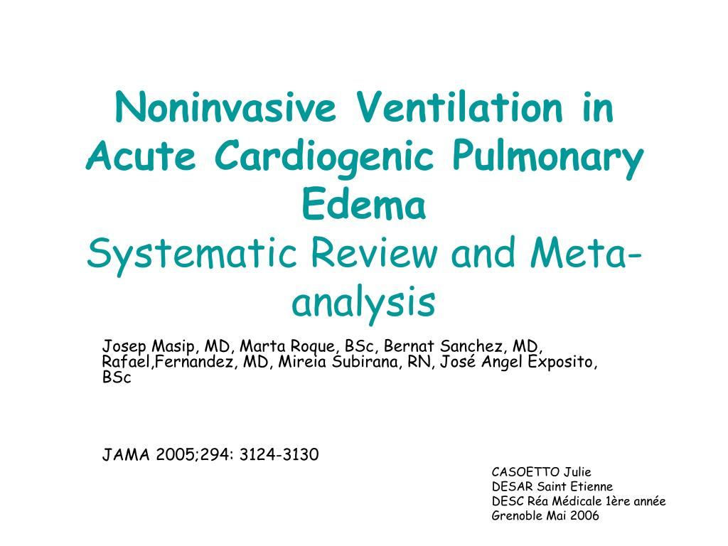 Noninvasive Ventilation in