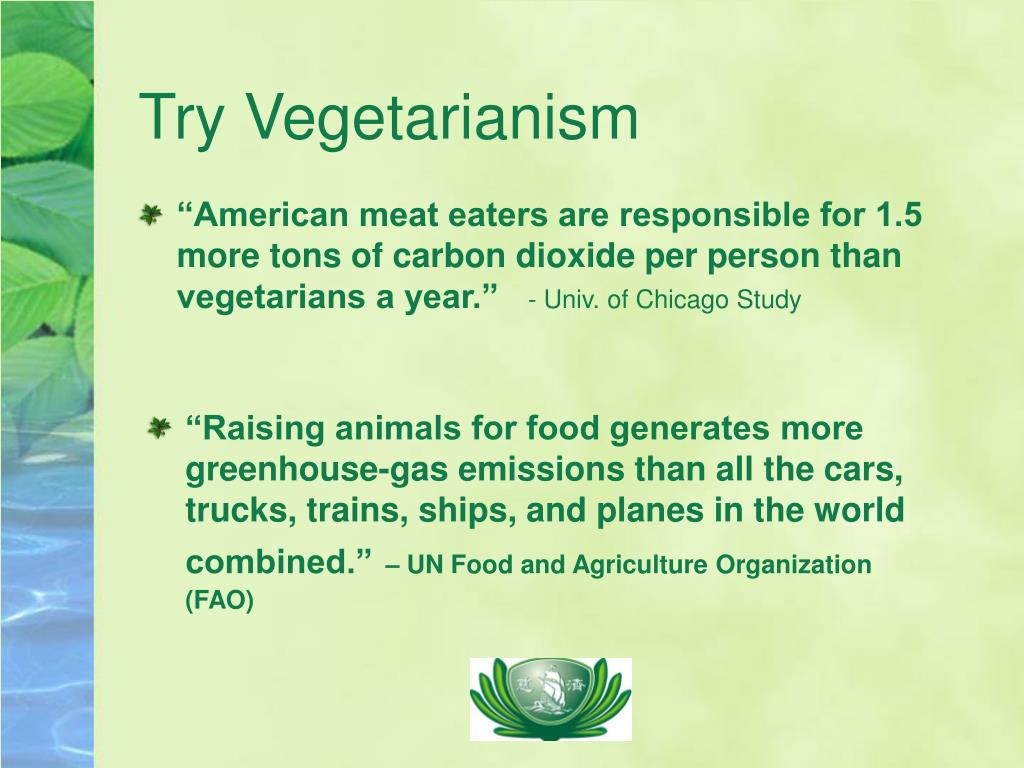Try Vegetarianism
