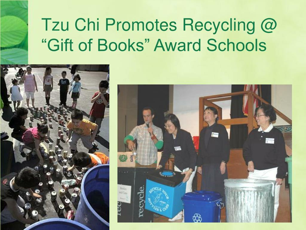 "Tzu Chi Promotes Recycling @ ""Gift of Books"" Award Schools"