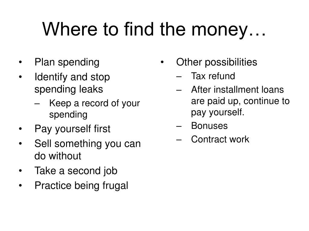 Plan spending