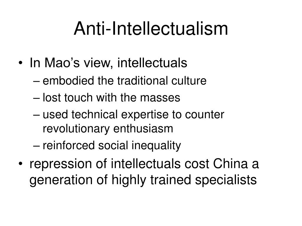 Anti-Intellectualism
