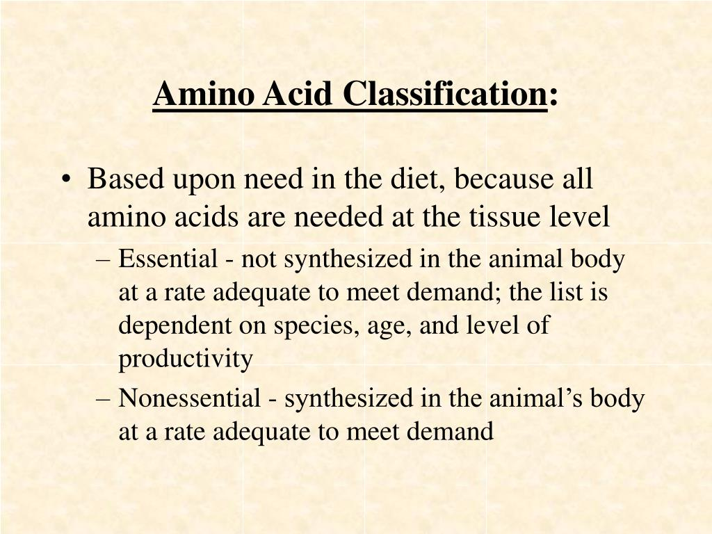 Amino Acid Classification