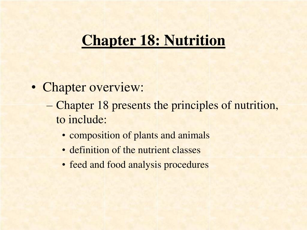 chapter 18 nutrition