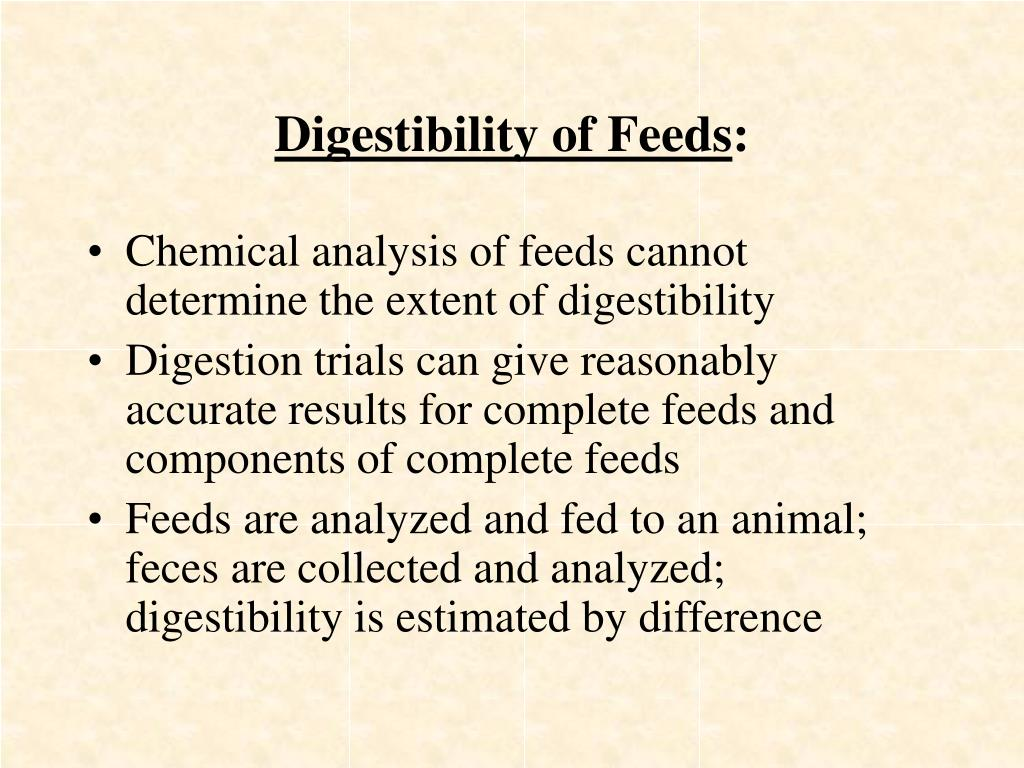 Digestibility of Feeds