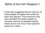 myths of the irish diaspora 1