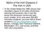 myths of the irish diaspora 2 the irish in usa
