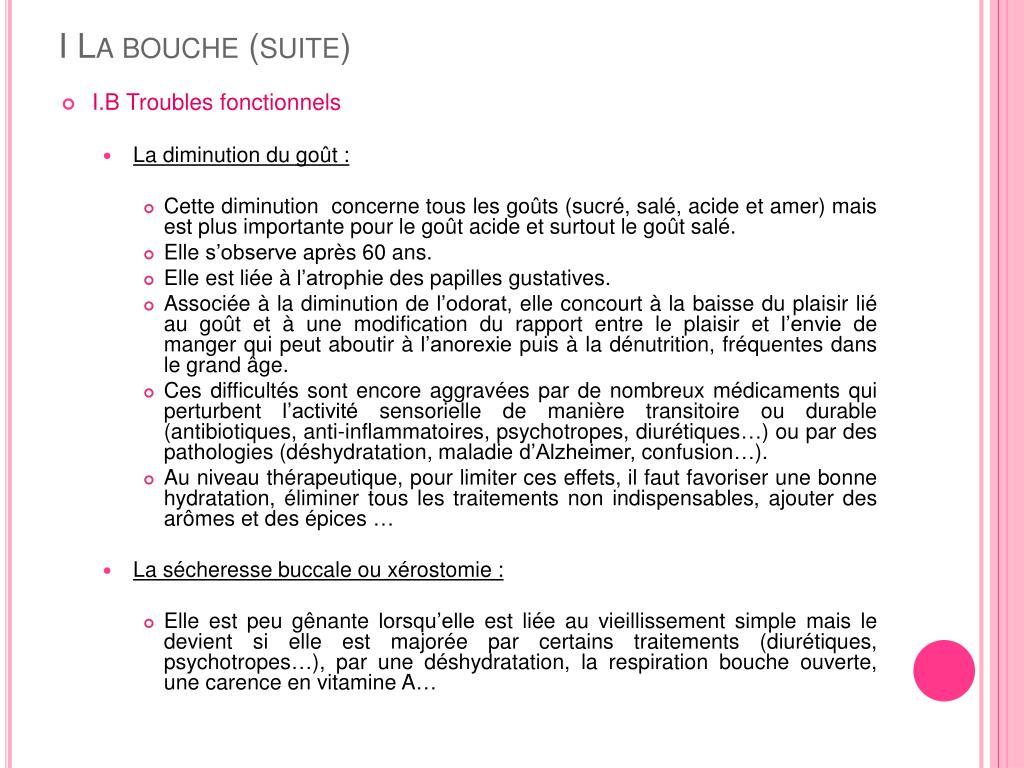 I La bouche (suite)