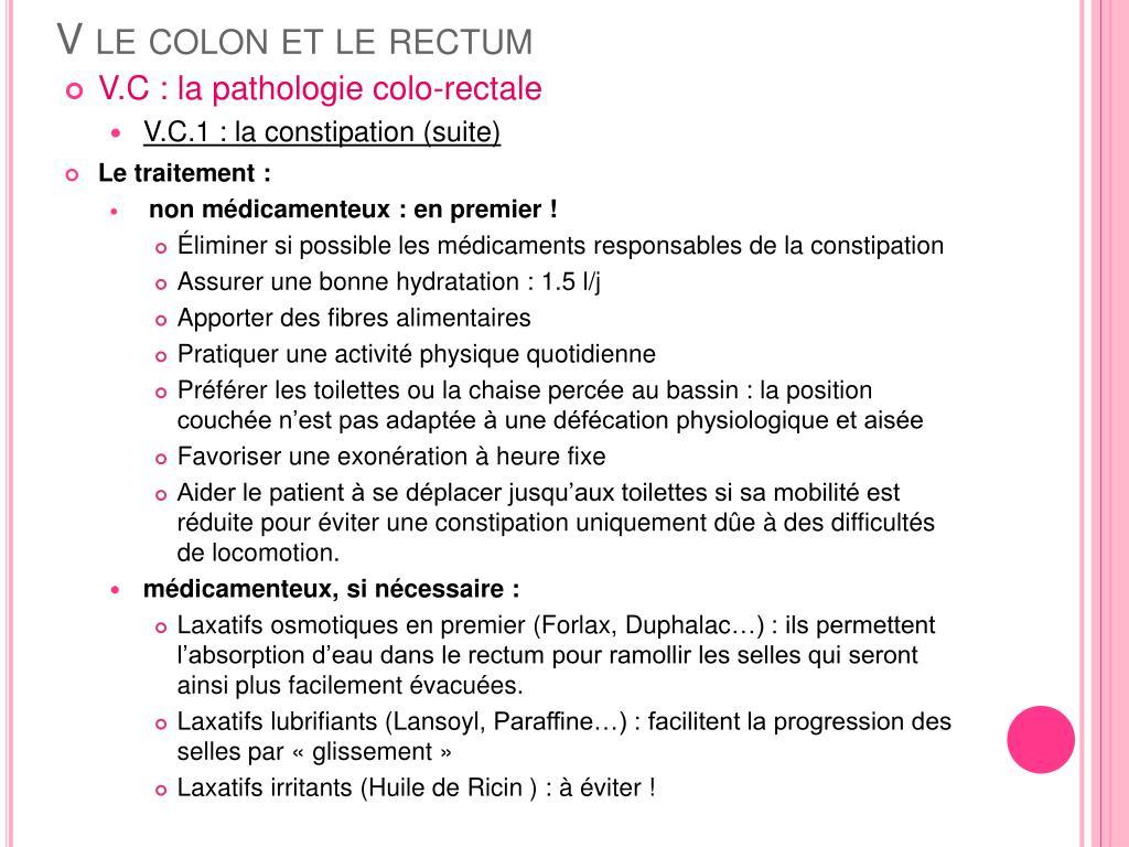 V le colon et le rectum