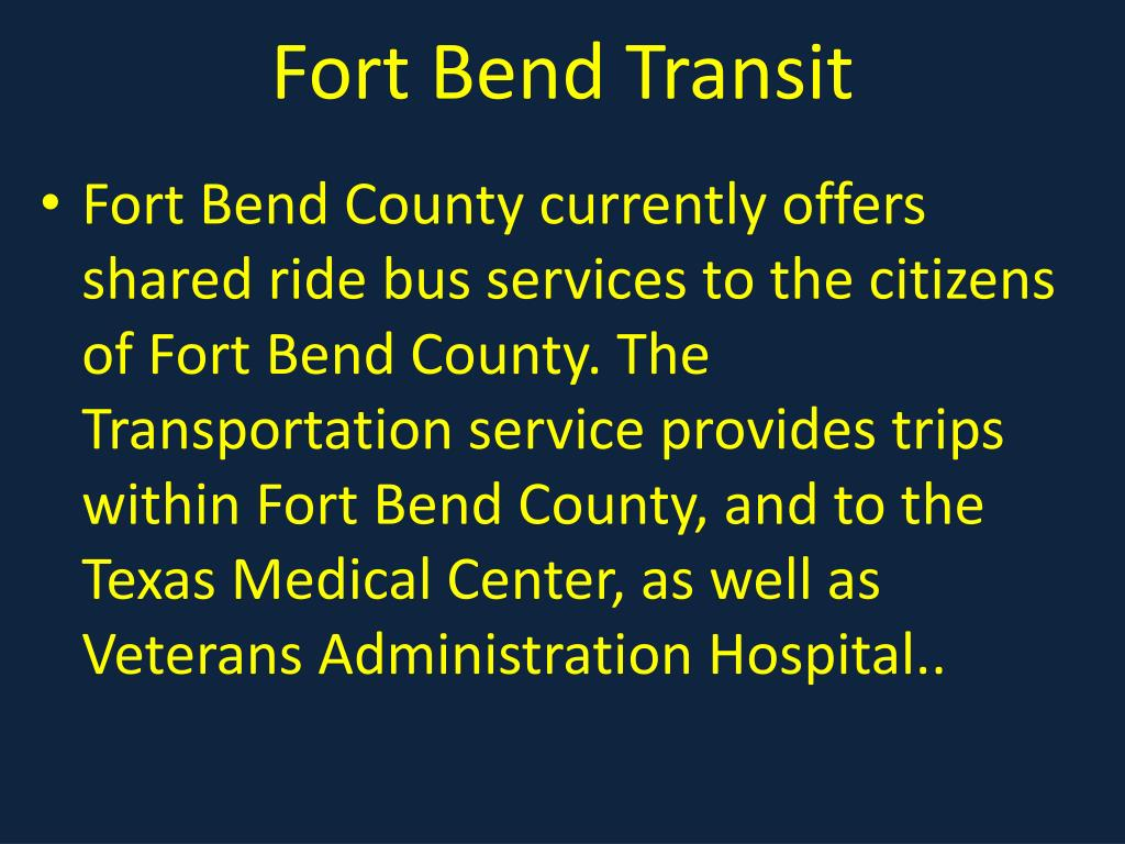 Fort Bend Transit