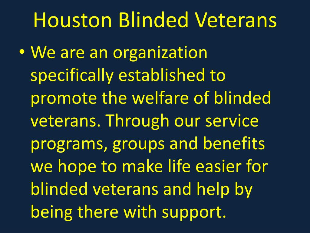 Houston Blinded Veterans
