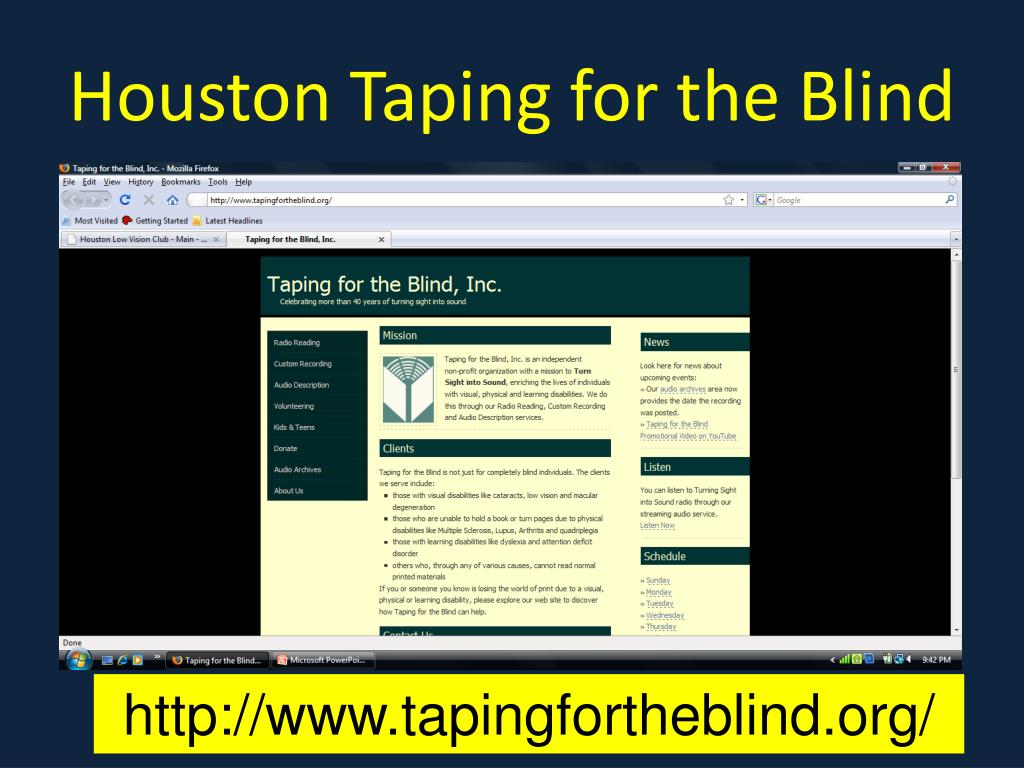 Houston Taping for the Blind