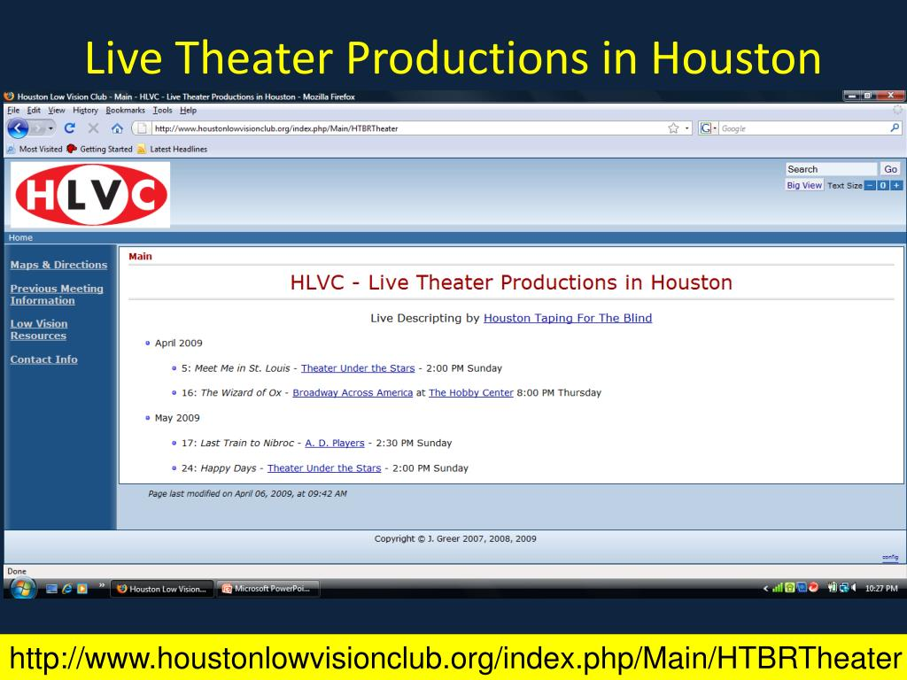 Live Theater Productions in Houston