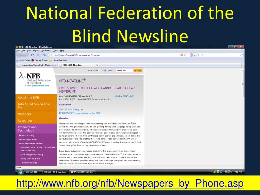 National Federation of the Blind Newsline