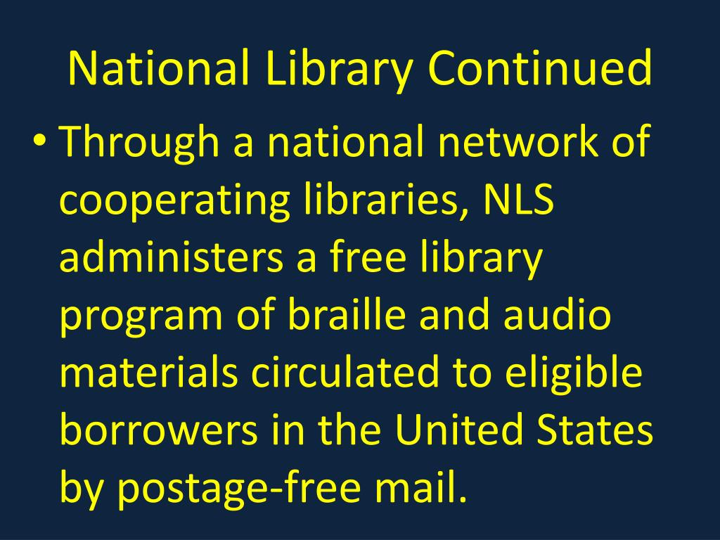National Library Continued