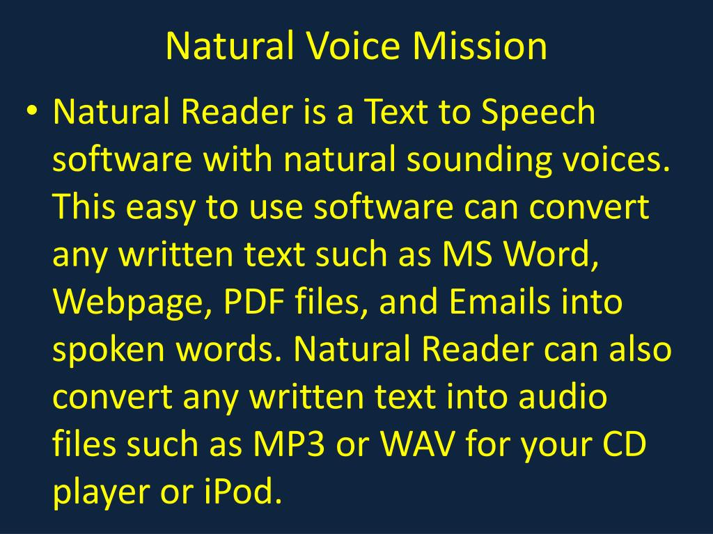 Natural Voice Mission