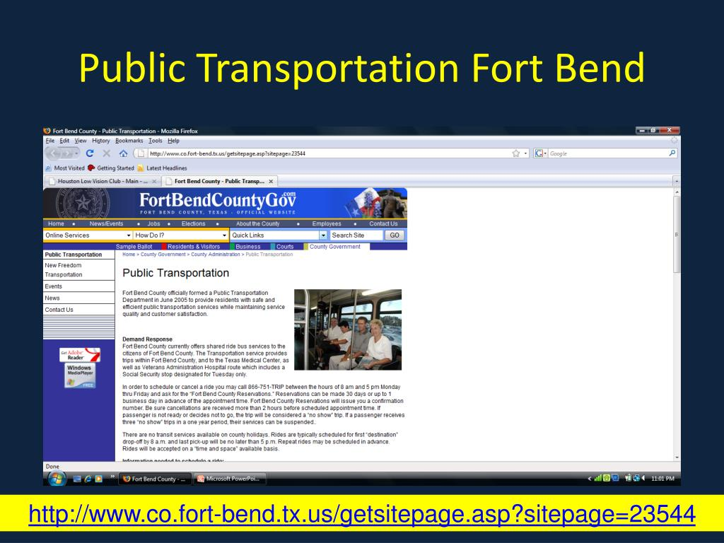 Public Transportation Fort Bend