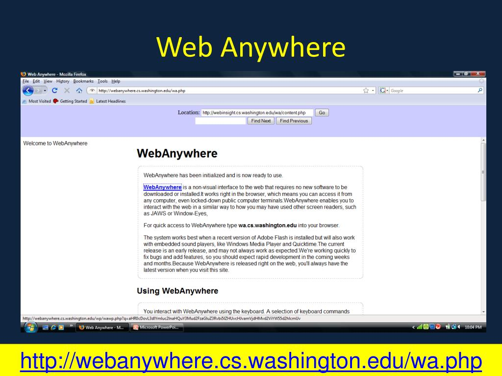 Web Anywhere
