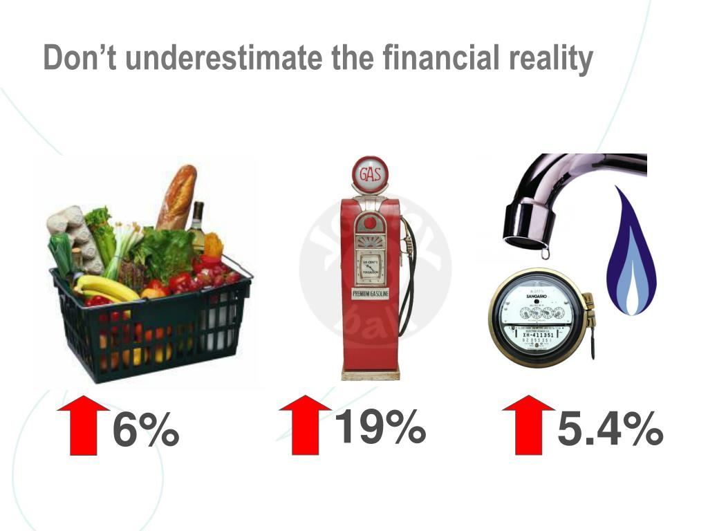 Don't underestimate the financial reality