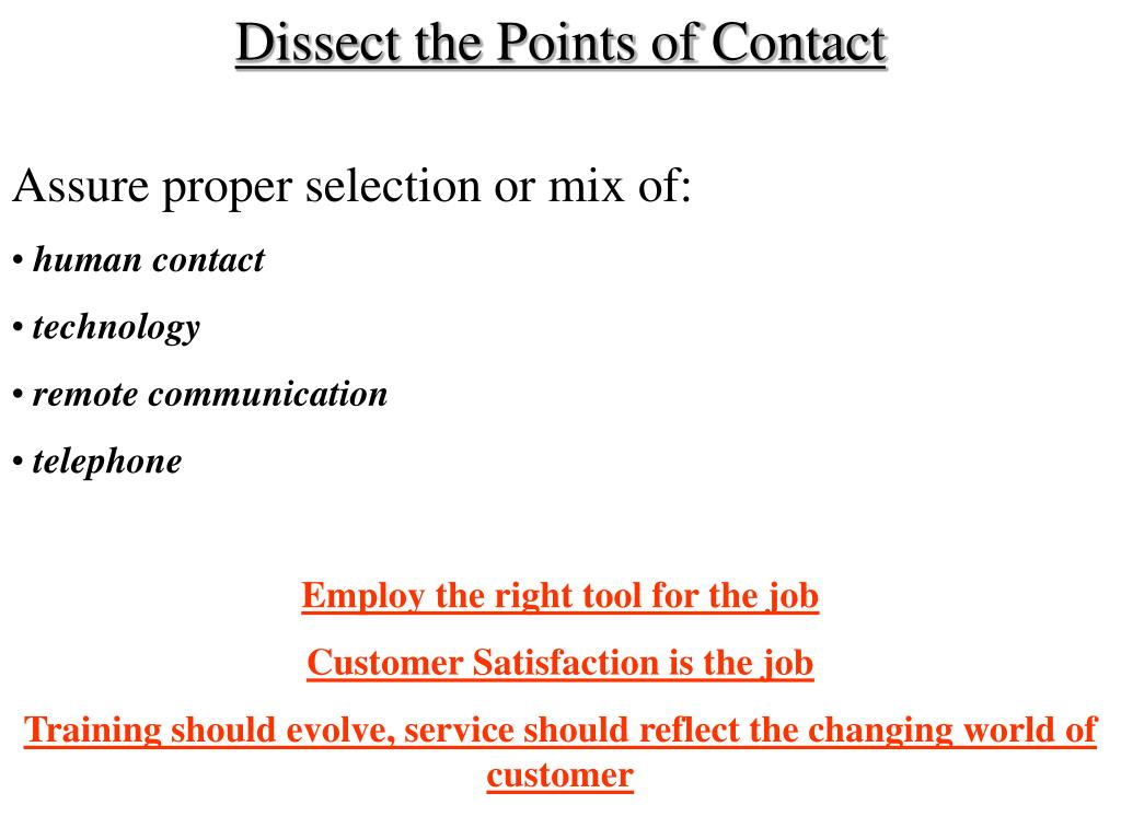 Dissect the Points of Contact