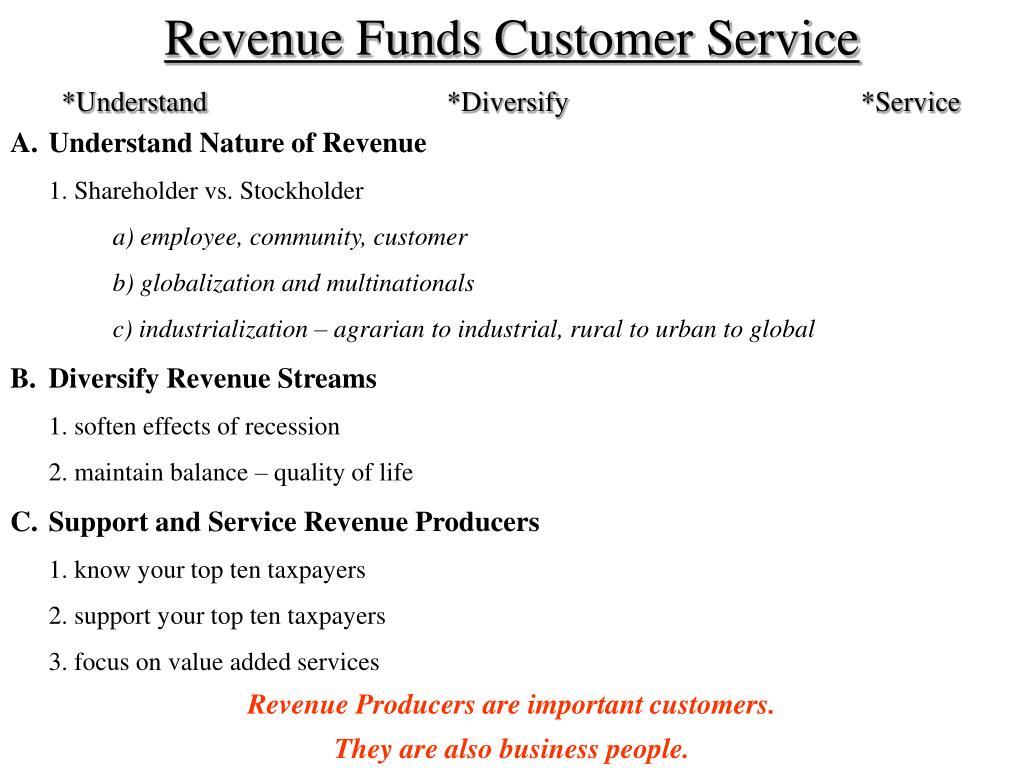 Revenue Funds Customer Service
