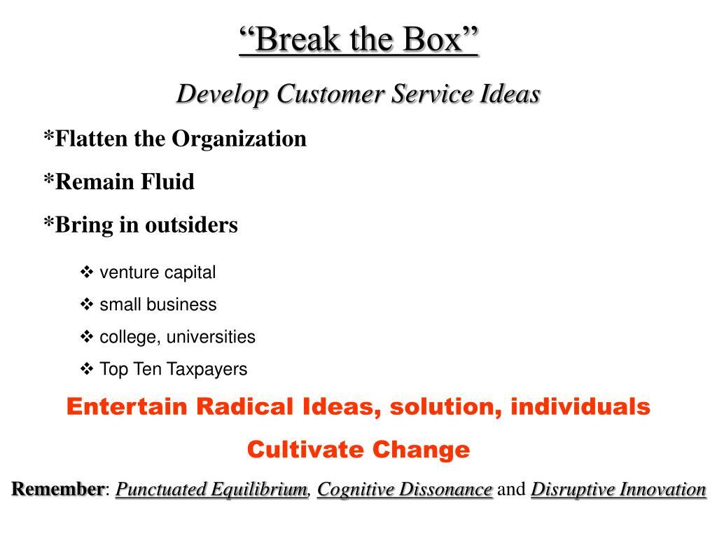 """Break the Box"""