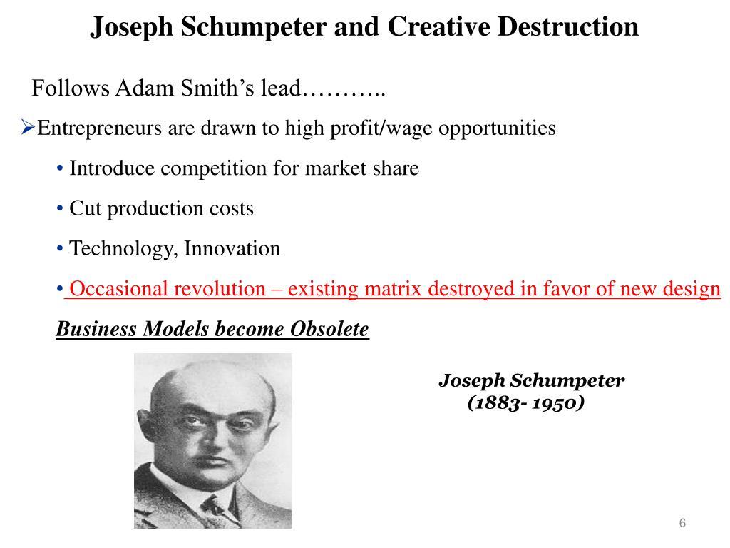 Joseph Schumpeter and Creative Destruction
