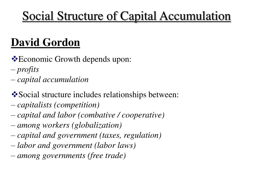 Social Structure of Capital Accumulation