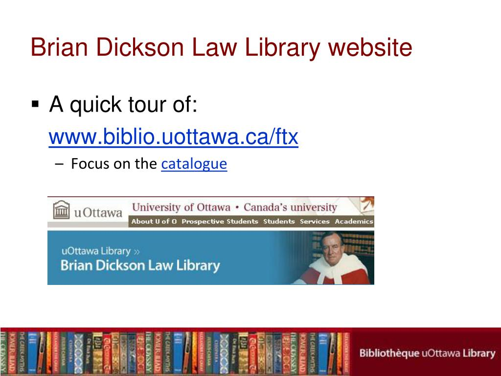 Brian Dickson Law Library website