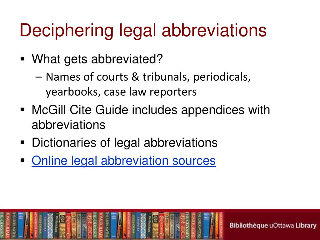 Deciphering legal abbreviations