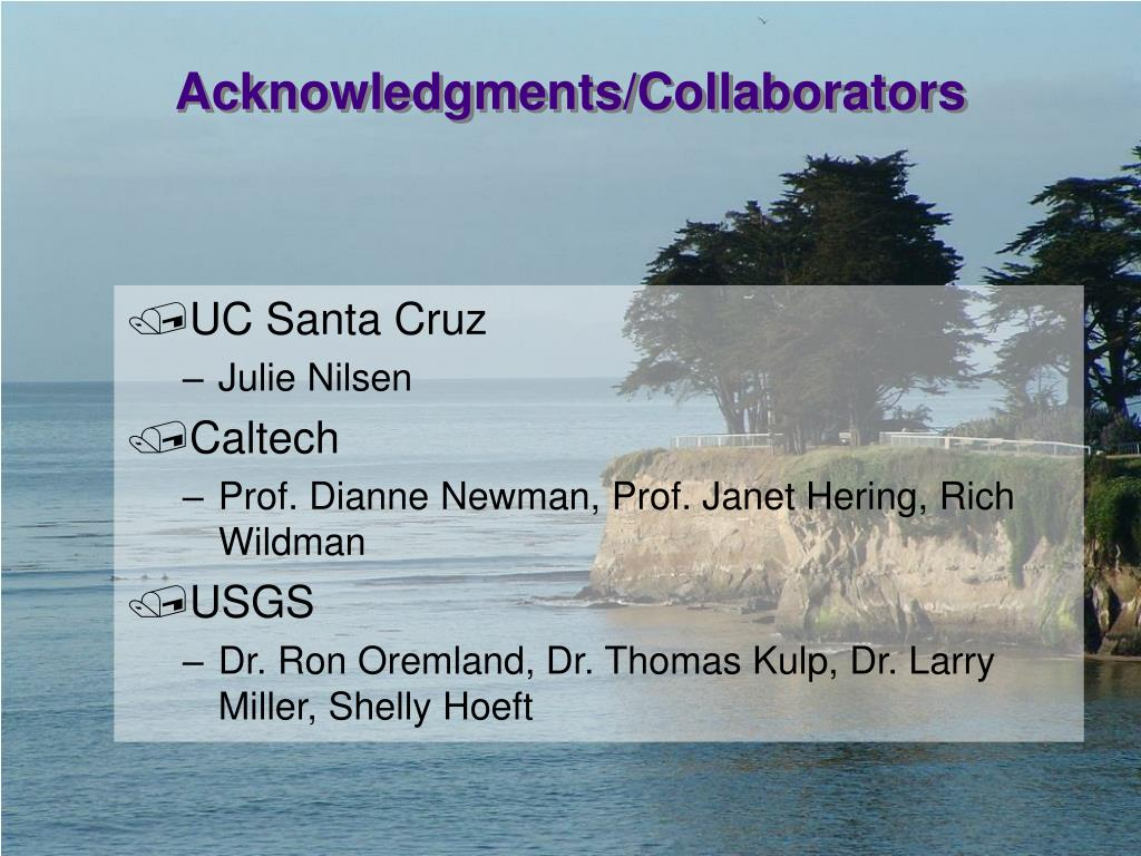 Acknowledgments/Collaborators
