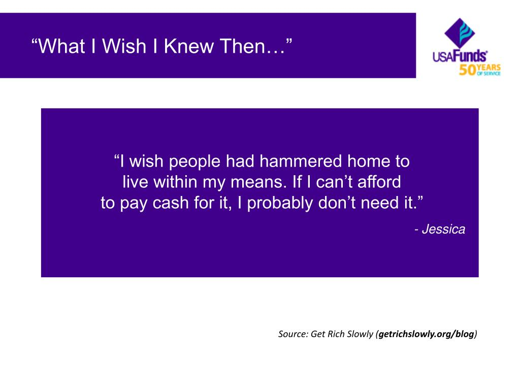 """What I Wish I Knew Then…"""
