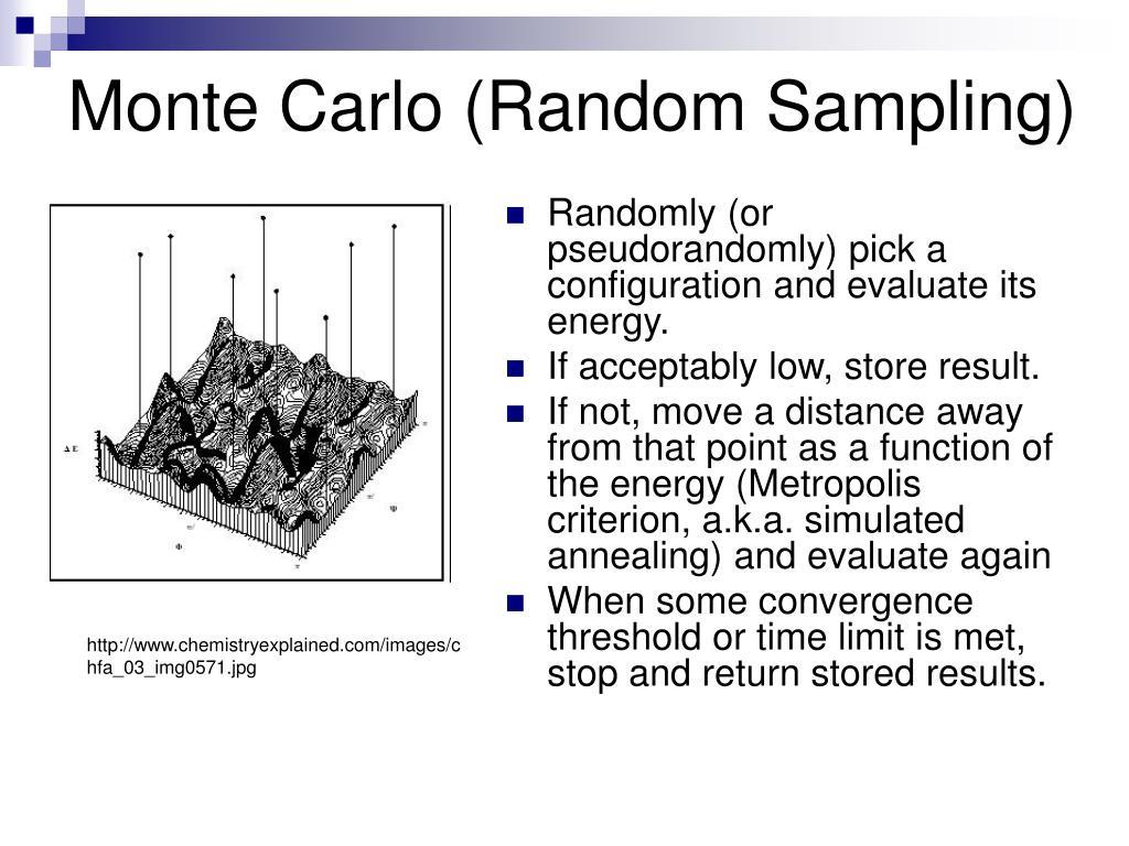 Monte Carlo (Random Sampling)