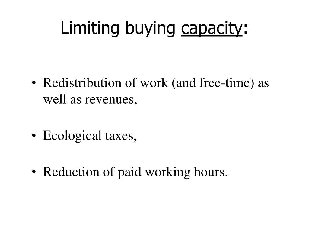 Limiting buying