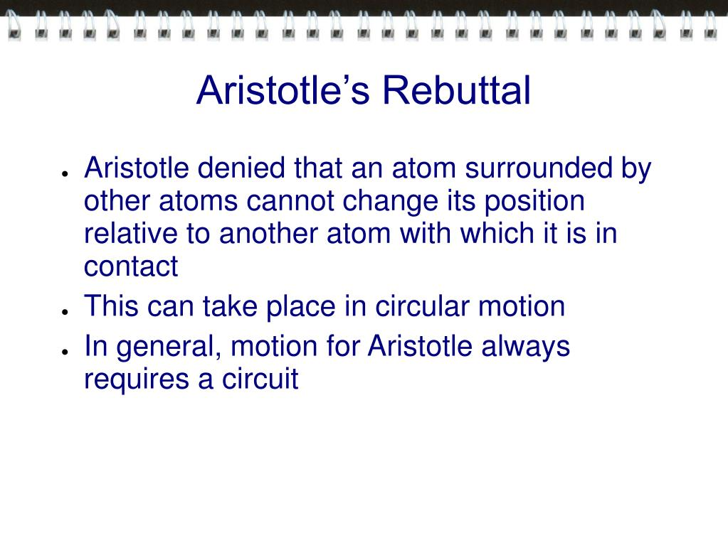 Aristotle's Rebuttal