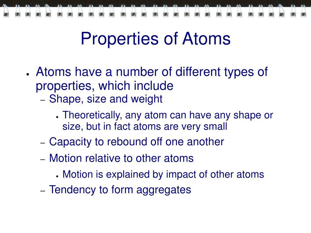 Properties of Atoms