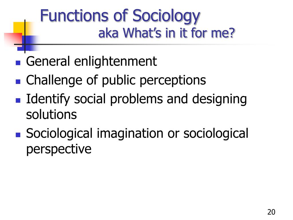 Functions of Sociology