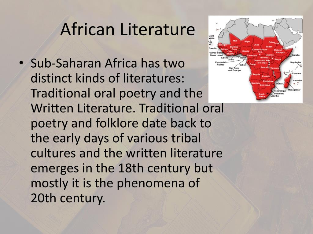 african traditional literature 2018-6-14  african literature - oral traditions and the written word: oral and written storytelling traditions have had a parallel development, and in many ways they have influenced each other.