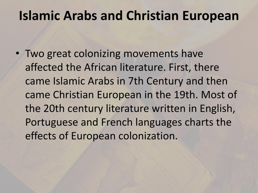 Islamic Arabs and Christian European
