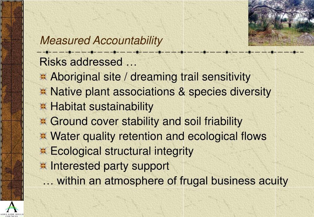 Measured Accountability
