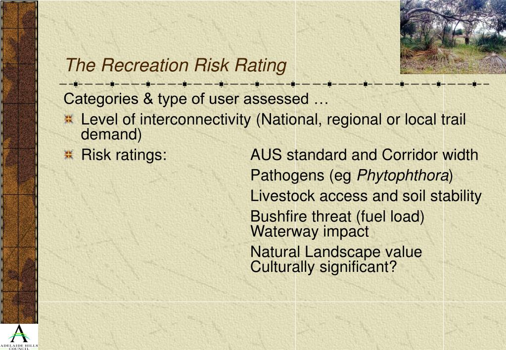 The Recreation Risk Rating