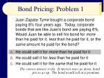 bond pricing problem 1
