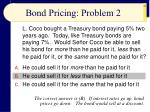 bond pricing problem 2