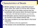 characteristics of bonds